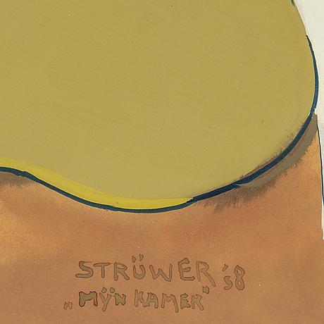 Ardy strÜwer, gouache, signerad och daterad -58.