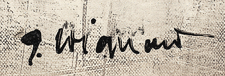 James coignard, mixed media on canvas, signed j. coignard.