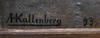 Anders kallenberg, olja sign och dat -93.