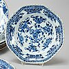 A set of two blue and white serving dishes, qing dynasty, qianlong (1736-95).
