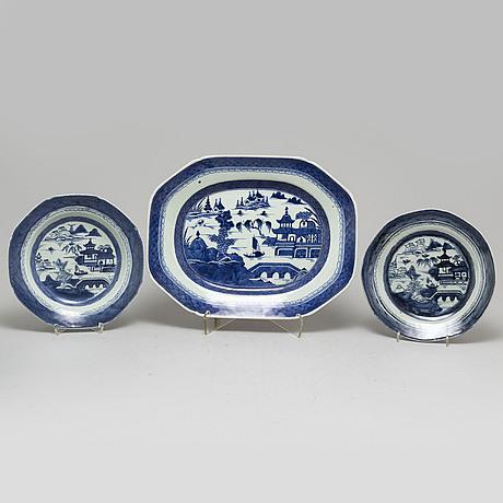 Servis, 22 delar, kompaniporslin. qingdynastin, 1800-tal.