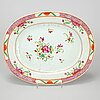 A part famille rose dinner service, qing dynasty, qianlong (1736-95).