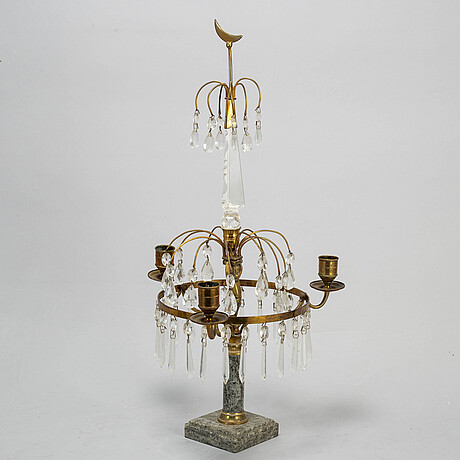 A gustavian style table girandole, mid 20th century.