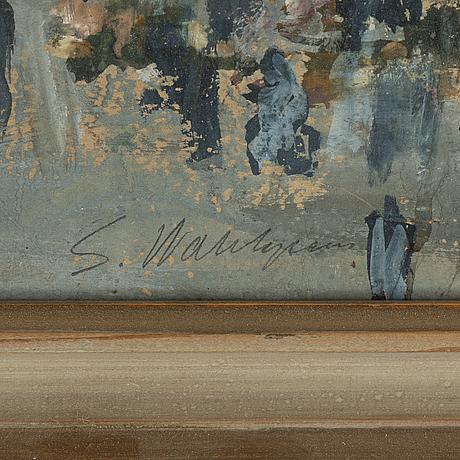 Sixten wahlgren, gouache on paper, signed.