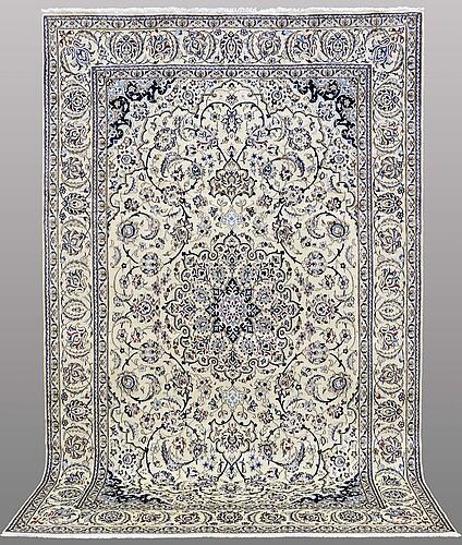 A carpet, nain part silk, so called 9laa, ca 310 x 200 cm.