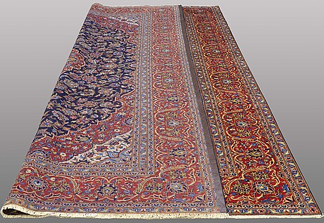 A carpet, keshan, ca 387 x 286 cm.