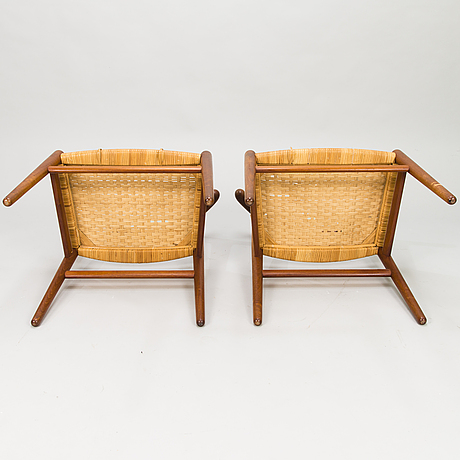 Hans j wegner, a set of five cowhorn chairs, jh-505, manufactured by cabinetmaker johannes hansen, denmark 1950-60.
