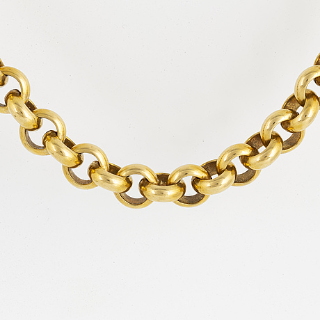 An 18k gold necklace, uno a erre, italy.