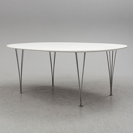 Piet hein & bruno mathsson, 'elips' table,  fritz hansen, denmark.