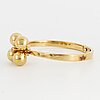 18k gold and brilliant-cut bangle.  design relo luzern.