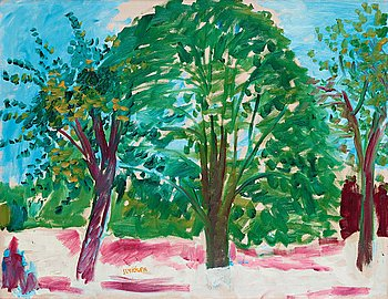 """503. Inge Schiöler, """"Three trees"""" (Tre träd)."""