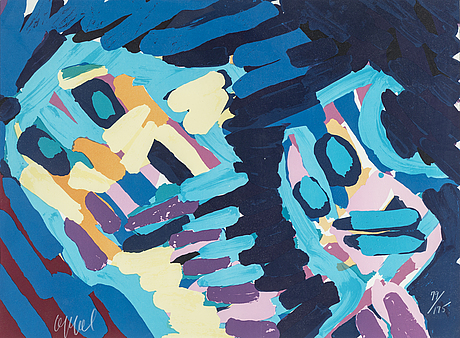 Karel appel, lithograph in colours, signed and numbered  79/175.