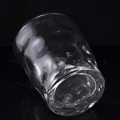 Gunnel nyman, a glas vase, iittala, signed.
