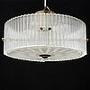Carl fagerlund, a glass ceiling light, orrefors, 1970s.
