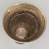A silver beaker by christan f heise, copenhagen denmark, 1917.