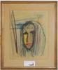 Ivan jordell, 3 st pastell o kolteckning, sign.