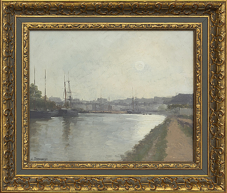 Louis timmermans, oil on panel signed.
