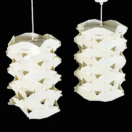 Two lamp pendants from cosmo light denmark.