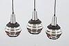 Three lamp pendants, late 20th century.