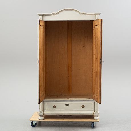 A circa 1900 painted wardrobe.