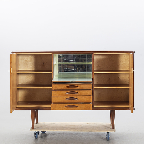 A teak sideboard from the second half of the 20th century.