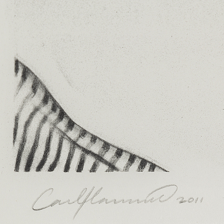 Carl hammoud, litograph, signed carl hammoud and dated 2011. numbered 53/60.