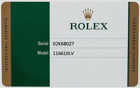 "Rolex, submariner, ""hulk""."