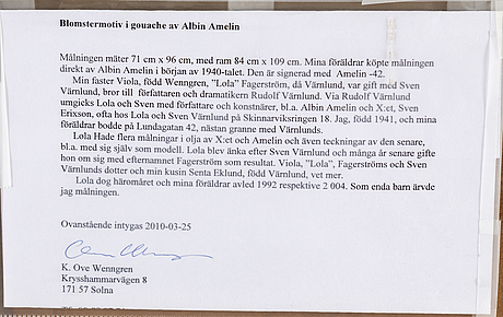 Albin amelin, gouache, signed amelin and dated -42.