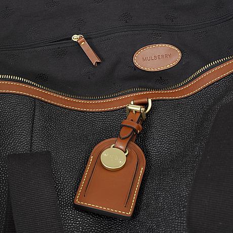 Mulberry, 'large clipper' weekendbag.