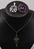 Parti smycken, 3 delar, bl a silver och ametist, 1900-talets första hälft.