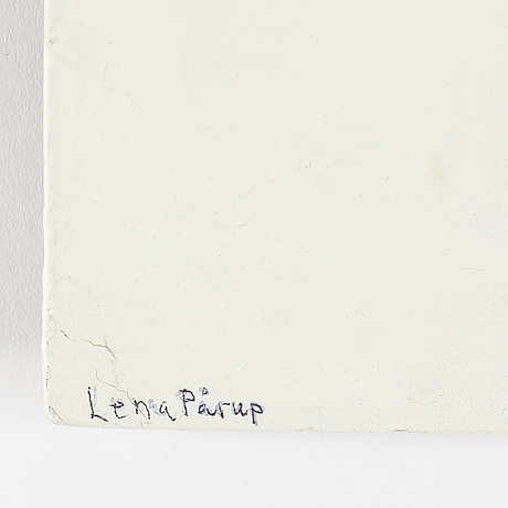 Lena pÅrup, mixed media on panel signed.