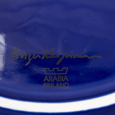 Birger kaipiainen, a ceramic art dish, marked birger kaipiainen, arabia, finland.