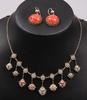 Parti smycken, 2 delar, bl a silver och korall, italien och kina.