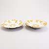 Fat, två stycken, porslin, meissen, 1900-tal.