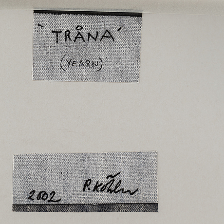 Peter kÖhler, canvas signed and dated 2002 on verso.