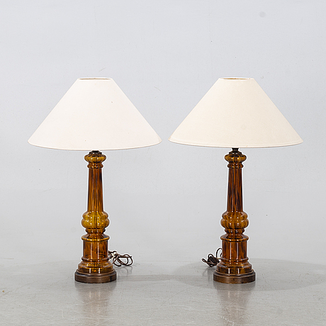 """A pair of table lamps, miranda ab, """"b415"""", second half of the 20th century."""