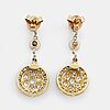 Brillian- old and rose-cut diamond earrings.