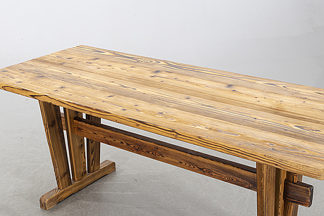 Table, pinewood, second half of the 20th century.