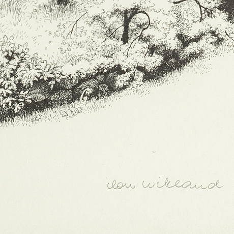Ilon wikland, two litographs, signed and numbered 200/210.
