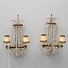 A pair of 20th century  gustavian style wall lights.