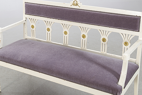 A gustavian style sofa, early 20th century.