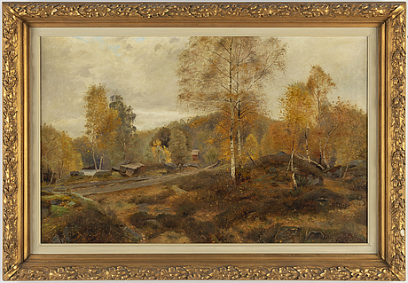 Olof krumlinde, oil on canvas, signed and dated 1889.