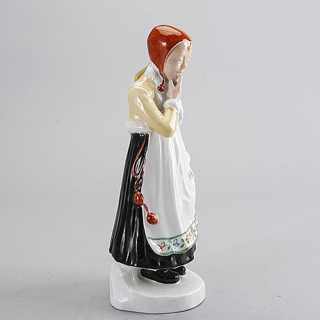 Hilma persson-hjelm, rörstrand, porcelain, early 20th century, signed.