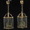 Two ceiling lamps from the late 20th century.
