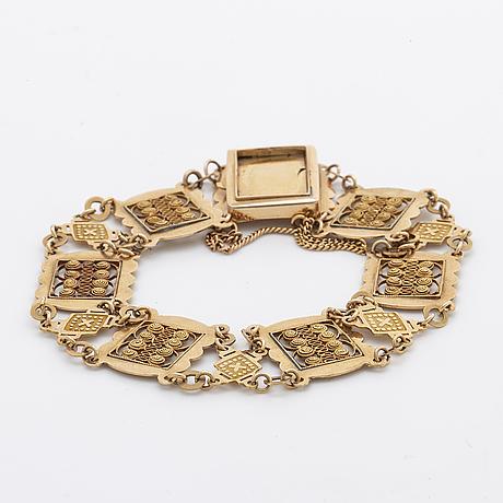 Bracelet 18k guld, 14,7 g.