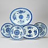 """A blue and white """"fitz-hugh part dinner service, qing dynasty, qianlong (1736-95). (23 pieces)."""