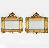 A pair of late 19th century girandole mirrors.