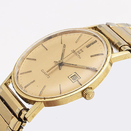 Zenith, wristwatch, 18k, 33 mm.