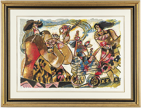 Theo tobiasse, lithograph in colours, signed 180/180.