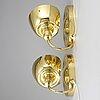 Josef frank, a pair of brass wall lights, model 2389, firma svenskt tenn.